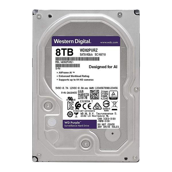 Western Digital Purple WD82PURZ Internal Hard Disk 8TB-FRONT