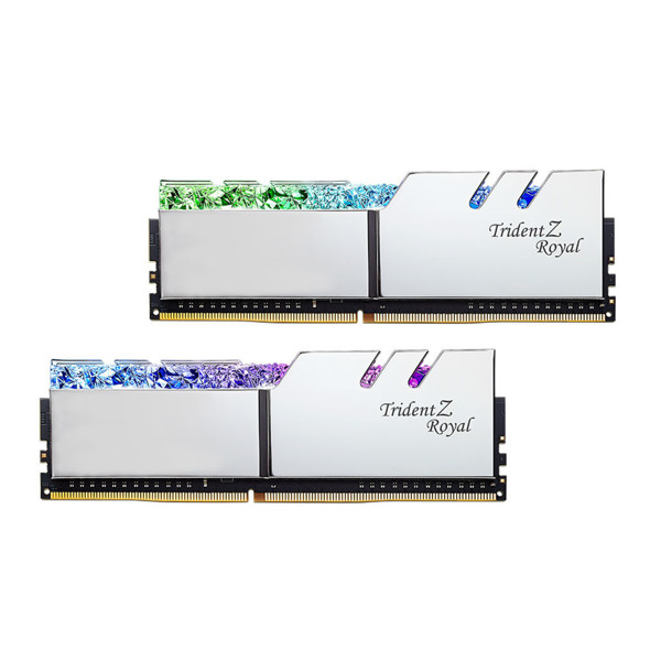 G.SKILL Trident Z Royal SILVER DDR4 3200MHz CL16 Dual Channel Desktop RAM - 16GB