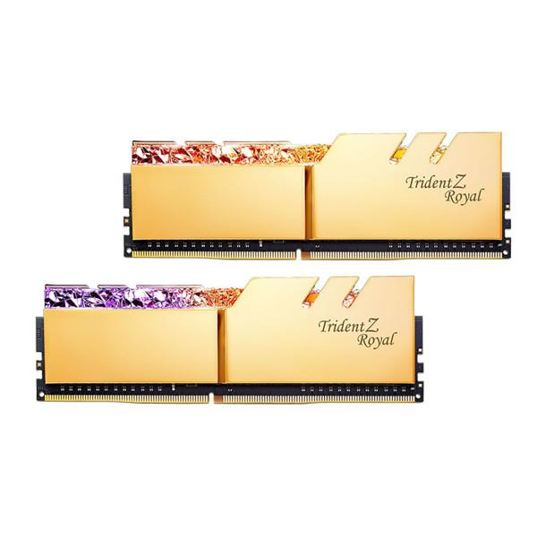 G.SKILL Trident Z Royal gold DDR4 3200MHz CL16 Dual Channel Desktop RAM - 32GB