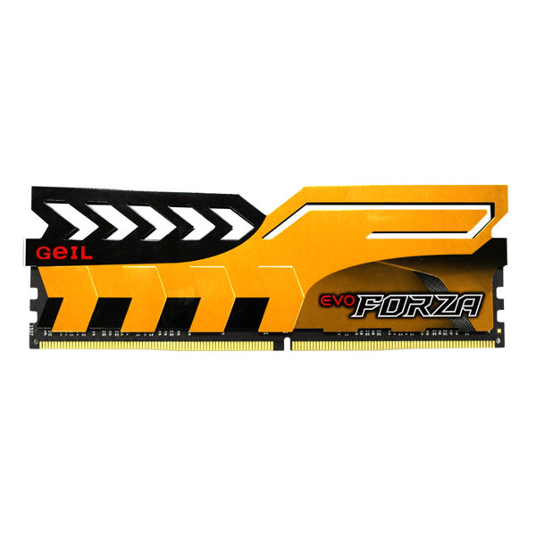 Geil Evo Forza DDR4 3200MHz CL16 Single Channel Desktop RAM - 16GB-yellow