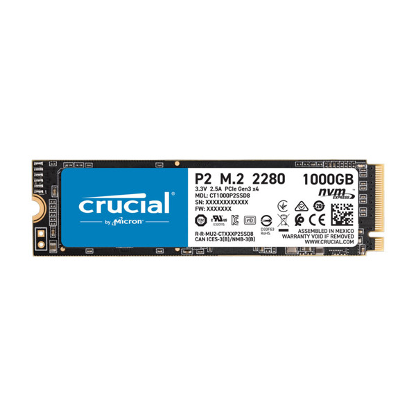 CRUCIAL P2 Internal SSD Drive 1TB