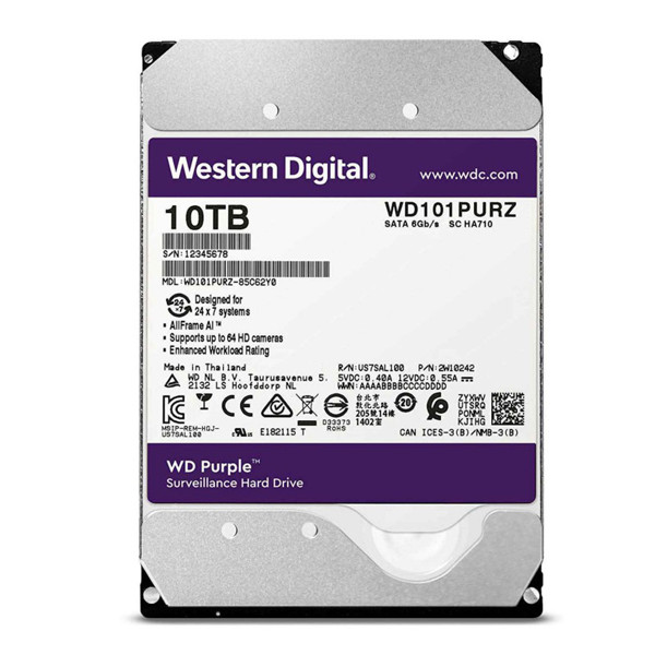 Western Digital Purple Internal Hard Disk 10TB