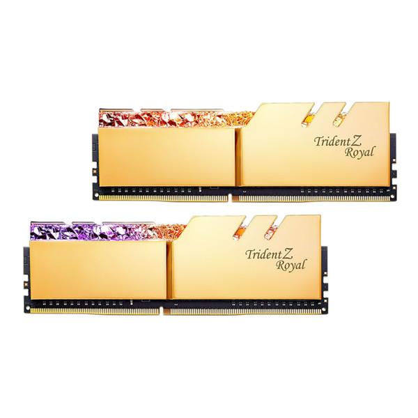 G.SKILL Trident Z Royal Gold DDR4 4000MHz CL16 Dual Channel Desktop RAM - 32GB