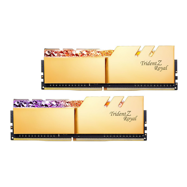 G.SKILL Trident Z Royal Gold DDR4 4000MHz CL18 Dual Channel Desktop RAM - 64GB