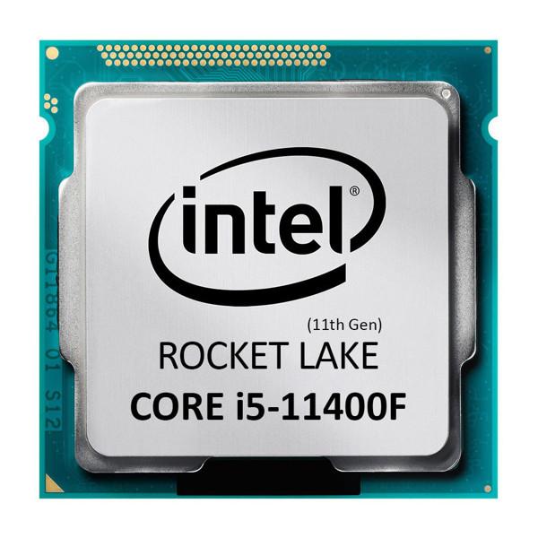 پردازنده مرکزی اینتل سری Rocket Lake مدل Core i5-11400F Tray بدون جعبه